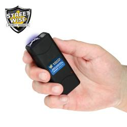 New 5,000,000 Volt Key Chain Stun Gun Rechargeable Black - Compact Design_Img