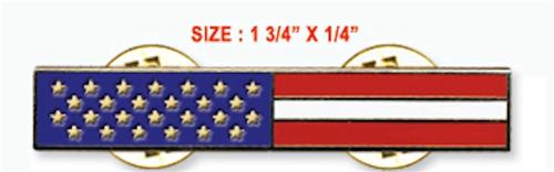 American Flag Uniform Bar (Horizontal)