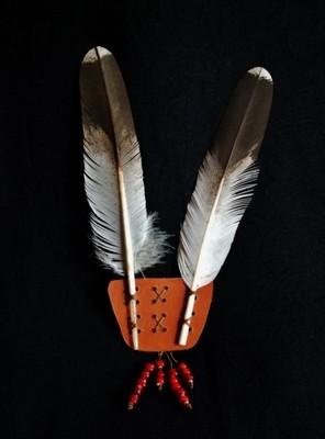 2 Feather Head Dress Eagle Feather Replica Hand Cut