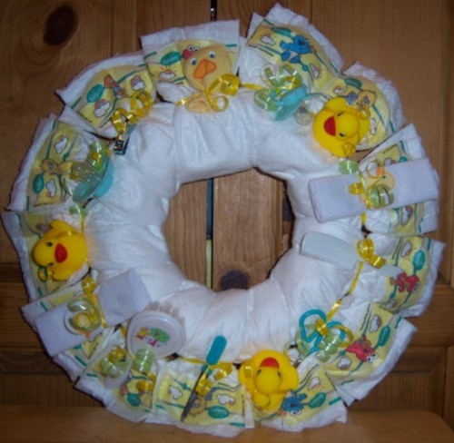 Baby Shower Duck Diaper Wreath Baby And More From Family Of 4