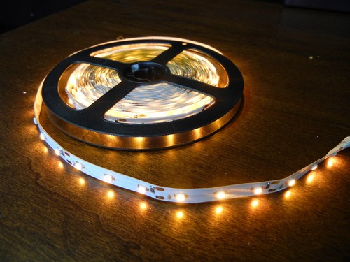 4 Foot Led Lights >> 16.4 foot 3528 Yellow/Amber Under Cabinet Counter LED ...