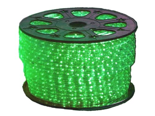 110VAC Green LED Rope Lighting