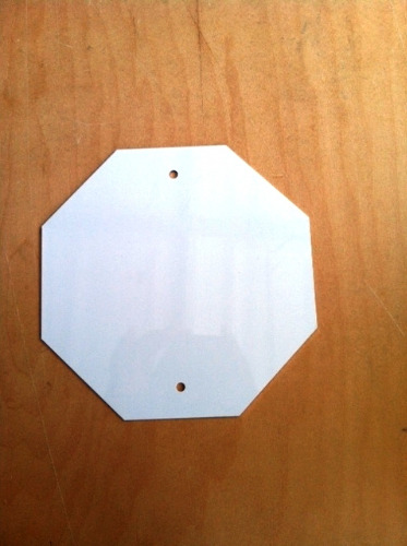 White Octagon with Holes