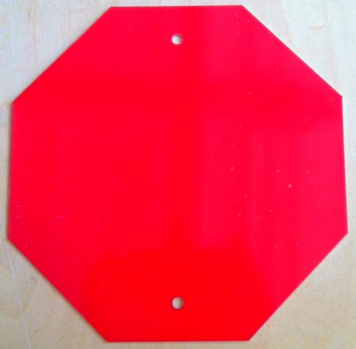 6x6 Red Octagon with Holes