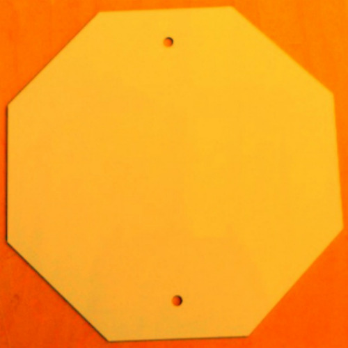 Caution Yellow Octagon