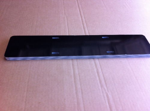 photo 2-4 Gloss Black Euro License Plate