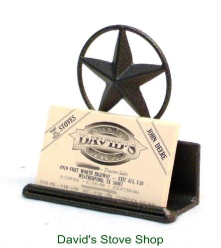 Western Ranch Decor Texas Star Business Card Holder - Davids E Stove ... 7d48d441091c