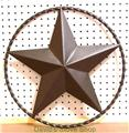 "18"" Metal Art 3D Texas Star Western Ranch Decor Powder Coated Steel"