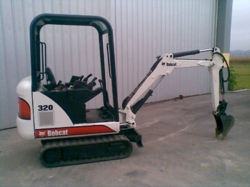 Bobcat 320L PDF Mini Excavator Service/Shop Manual Workshop Repair Guide Download!