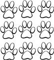 9 Cat Dog Animals Paw Prints Picture Art Childrens Room Vinyl Wall Decal 20x20