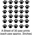 30 Cat Dog Animals Paw Prints Picture Art Childrens Room Vinyl Wall Decal 20x20