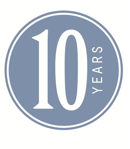 10 Year Celebration Anniversary Party Decoration Wall Peel & Stick Gift 14X14