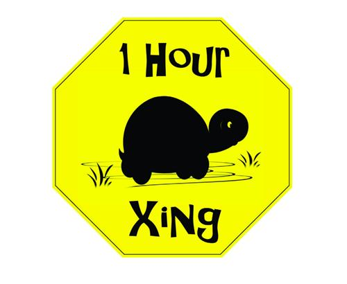 1 Hour Xing Picture Art Road Signs Vinyl Wall Decal Sticker Art 10x10