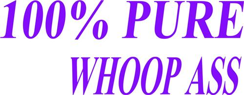 100% Pure Whoop Picture Art Boys Bed Room Vinyl Wall Decal Sticker Art 7x10