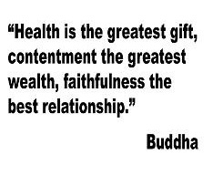 """""""Health Is The Greatest Gift.. - Vinyl Wall Decal Sticker 14x22"""