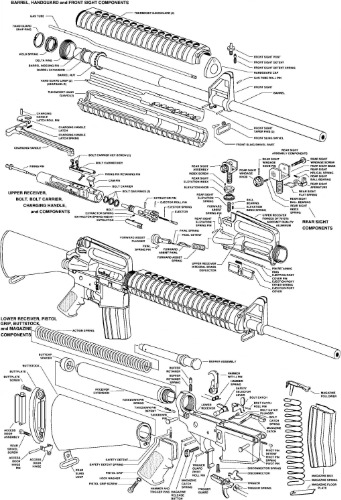 Ar 15 Diagram Schematic Glossy Poster Picture Photo Shoot Guns