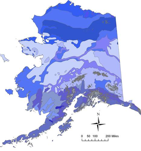 ALASKA PERMAFROST MAP GLOSSY POSTER PICTURE PHOTO juneau ...