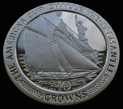 1987 10 OUNCE AMERICAS CUP CHALL OBV