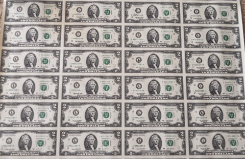 2003A SERIES $2 SHEET OBV 4