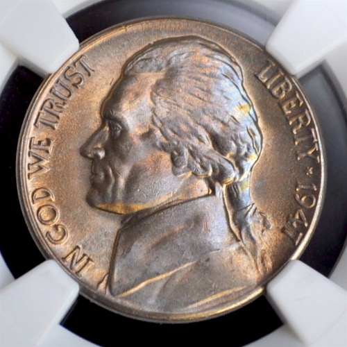 1947-S 5C Jefferson Nickel NGC MS66
