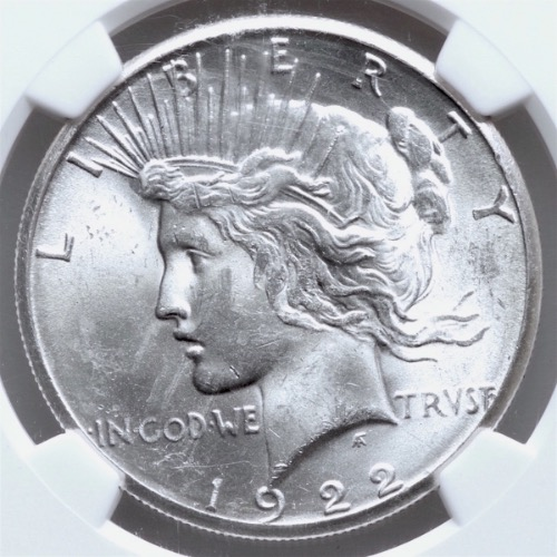 1922-S SILVER PEACE DOLLAR NGC MS-63