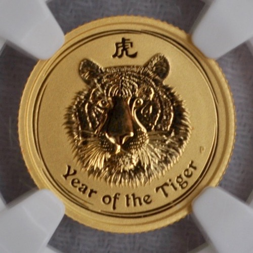 2010-P G$15 AUSTRALIA YR OF THE TIGER NGC MS-69 OBV 1