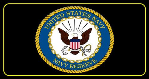 US NAVY RESERVE LICENSE PLATE UNITED STATES MILITARY EAGLE LOGO AUTO CAR TAG NEW