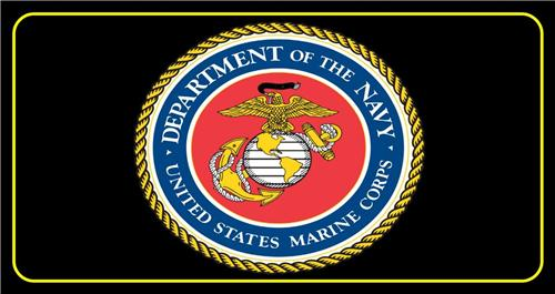 NAVY USMC LICENSE PLATE UNITED STATES US MARINE CORP MILITARY AUTO CAR TAGS NEW