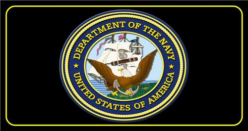 DEPARTMENT OF THE NAVY LICENSE PLATE UNITED STATES US MILITARY AUTO CAR TAGS NEW
