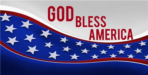 GOD BLESS AMERICA FLAG LICENSE PLATE UNITED STATES PATRIOTIC CAR AUTO TAGS NEW