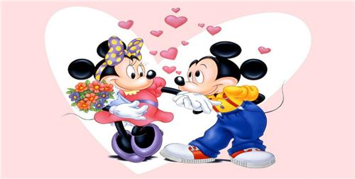 MICKEY MOUSE &  MINNIE MOUSE HEARTS LICENSE PLATE DISNEY CHARACTERS AUTO TAG NEW