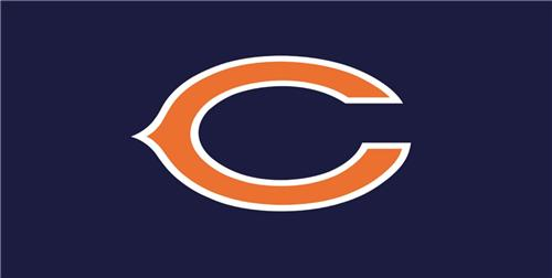 NFL CHICAGO BEARS LICENSE PLATE ON BLUE BACKGROUND SPORTS TEAM FOOTBALL FANS