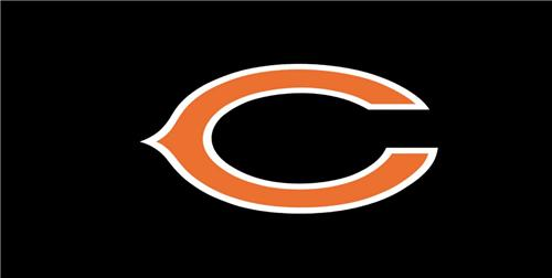 NFL CHICAGO BEARS LICENSE PLATE ON BLACK BACKGROUND SPORTS TEAM FOOTBALL FANS