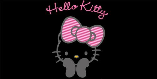 HELLO KITTY ALUMINUM LICENSE PLATE FOR CAR AUTO TAGS NEW PINK HAIRBOW BLACK GRAY