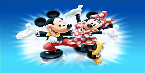 MICKEY MOUSE & MINNIE MOUSE LICENSE PLATE FOR CAR AUTO TAGS NEW BLUE BACKGROUND