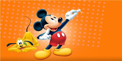 MICKEY MOUSE & PLUTO ON ORANGE BACKGROUND LICENSE PLATE FOR CAR AUTO TAGS NEW