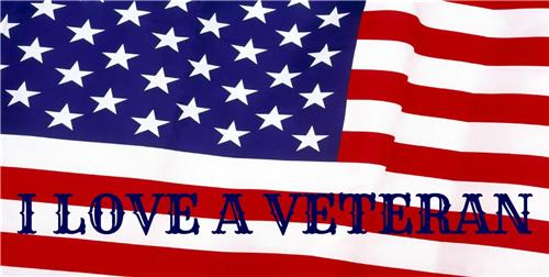 VETERANS DAY GIFT LICENSE PLATE I LOVE A VETERAN AMERICAN FLAG AUTO CAR TAGS NEW