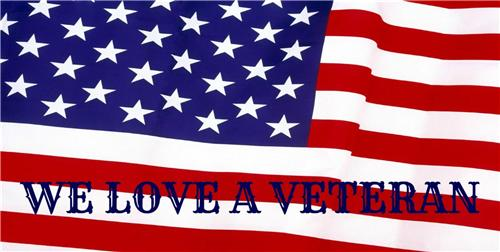 WE LOVE A VETERAN LICENSE PLATE VETERANS DAY GIFT AMERICAN FLAG AUTO CAR TAGS