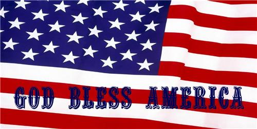 GOD BLESS AMERICA AMERICAN FLAG LICENSE PLATE PATRIOTIC US RED BLUE AUTO CAR TAG