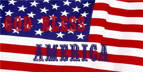 GOD BLESS AMERICA LICENSE PLATE AMERICAN US FLAG RED WHITE BLUE  AUTO CAR TAGS