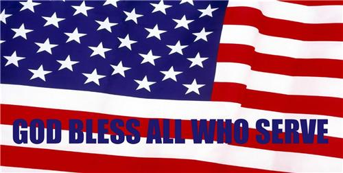 GOD BLESS ALL WHO SERVE VETERANS DAY US MILITARY AMERICAN FLAG LICENSE PLATE