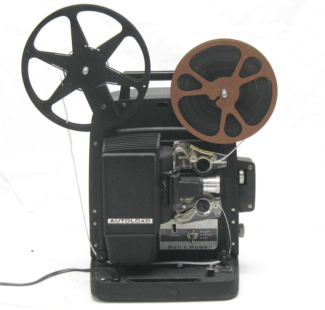 Vintage BELL & HOWELL 256 AB 8mm HOME MOVIE FILM PROJECTOR w LAMP CONVERSION