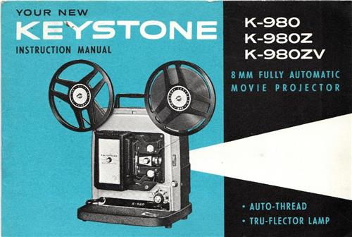 KEYSTONE K-980, K-980-Z K-980ZV PROJECTOR MANUAL - Hard Copy