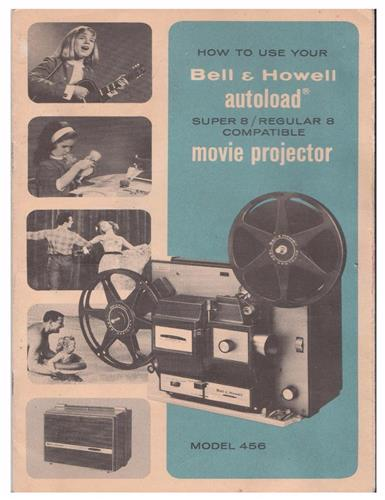 BELL & HOWELL 456, 456A, 456Z PROJECTOR MANUAL - PDF- e-manual