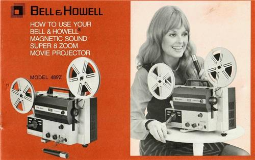 BELL & HOWELL 489Z PROJECTOR USER MANUAL - hard copy - reprint - 18 pages