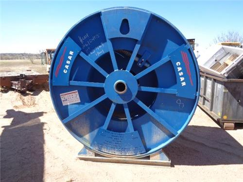 CASAR HIGH PERFORMANCE MINING ROPE GALVANIZED CABLE ROLL SPOOL BRAND NEW 55.5MM.
