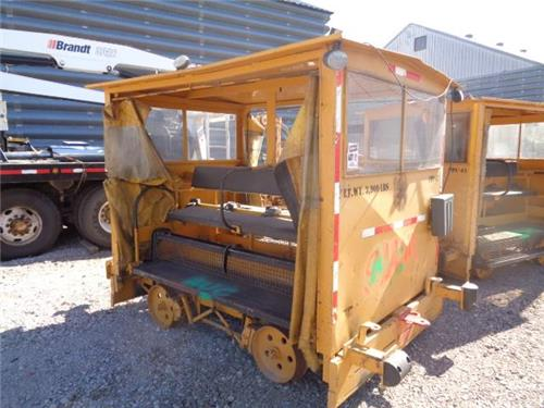 RAILROAD MAINTENANCE OF WAY PERSONNEL CARRIER PADDED SEATS GLASS AND CURTAINS
