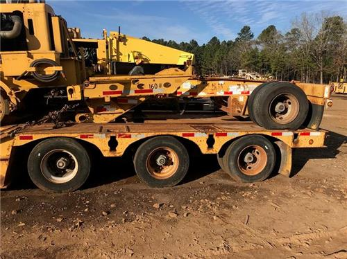 2001 LOAD KING RAILROAD TRACK EMBEDDED 50 TON LOWBOY RGN FOLDING 4 AXLE TRAILER