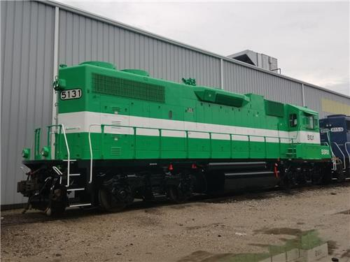 RAILROAD GP38-2 LOCOMOTIVE SWITCHER POWER UNIT AVAILABLE FOR IMMEDIATE LEASE