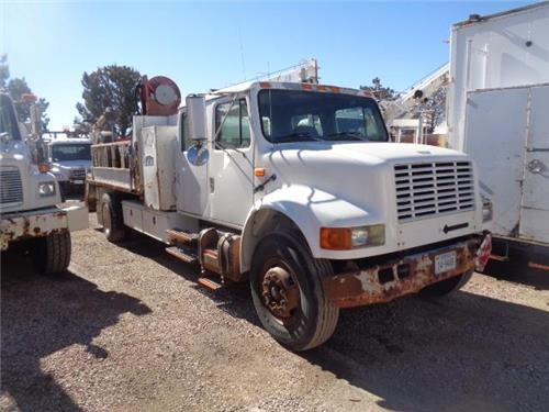 1994 INTERNATIONAL 4900 SECTION RAILROAD GANG CRANE WINCH FUELING TRUCK